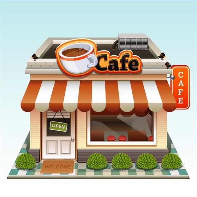 Кафе в картинках нарисовать